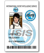 LANA KANE FROM ARCHER ID NAME BADGE TAG PROP HALLOWEEN MAGNETIC BACK - $14.84