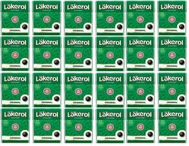Cloetta Läkerol Originl Sugar Free Licorice Menthol Candy 25g * 24 pack 21oz - $56.42