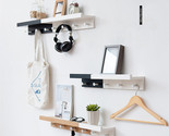 Scandivanian Wall Decor Storage Shelves With Hanging Hooks (48.5*12*8cm) - €33,46 EUR