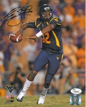 Geno Smith signed West Virginia Mountaineers 8x10 Photo (navy jersey)- J... - $33.95