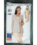 See & Sew by Butterick Misses' Jacket & Dress Pattern - $2.00