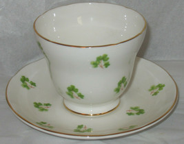 Vtg Crown Trent Fine Bone China Tea Cup & Saucer Staffordshire Made in England - $18.81