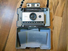 Old Vintage Polaroid Land Camera Automatic 320 & 2 cold clips in Carryin... - $49.99