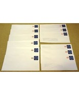 USPS Scott U611 25c Envelopes Stars & USA Lot of 12 Blue Red - $13.41