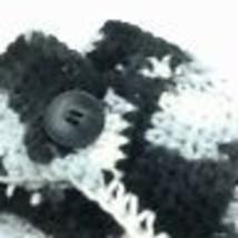 EAR WARMER Winter Headband Womens Button Front Variegated Knit Yarn Hand... - $16.03