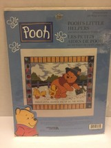"Poohs Little Helper Counted Cross Stitch Kit Leisure Art #113235 81/2"" X 101/8"" - $7.69"
