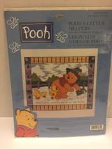 "Poohs Little Helper Counted Cross Stitch Kit Leisure Art #113235 81/2"" X... - $7.69"