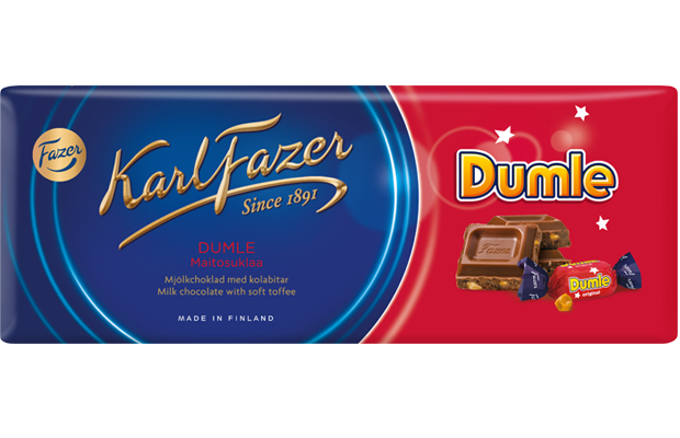 Primary image for Karl Fazer Dumle milk chocolate with soft toffee 10 Bars 2kg 70oz