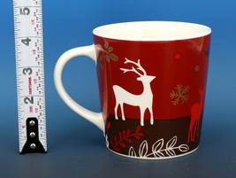 Collectible Starbucks Porcelain Coffee Mug 2009 16 oz Red Reindeer Chris... - $9.96