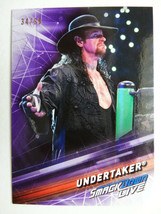2019 Topps WWE Smackdown #60 Undertaker Purple Parallel Card 34/99 - $5.99