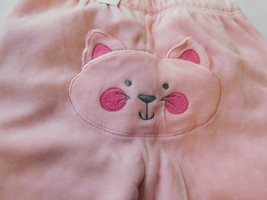 The Children's Place Baby Girl's Pants Bottoms Velour Kitty Face on Butt NWT - $13.49