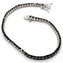 Bracelet Tennis, Argent 925, Zircone Cubique Noir, Taille Brillant, 2 MM - $40.01+