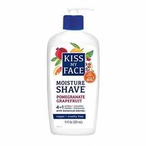 Kiss My Face Moisture Shave 11 Ounce Pomegranate Grapefruit 325ml 2 Pack