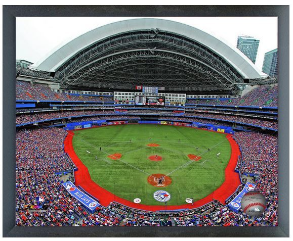 "Toronto Blue Jays' Rogers Centre - 11"" x 14"" Photo in a Glassless Sports Frame"