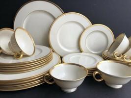 30Pc Lenox Tuxedo Dinnerware Set For 6 Dinner Salad Dessert Plates Cups ... - $297.00