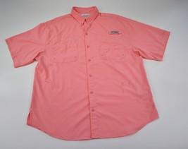 Columbia PFG Omni Shade Performance Vented Pink Fishing Shirt Large Hiking  - $23.28
