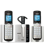 VTech DS6671-3 DECT 6.0 Connect-to-Cell 2-Handset Phone System with Cord... - $113.68