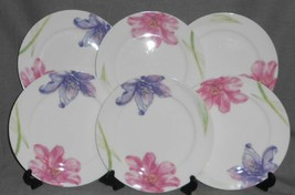 Set (6) CIROA Bone China SPRING BLOOMS Salad Plates AUSTRALIAN DESIGN - $31.67