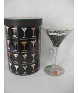 Lolita Hand Painted Glass Martini Collection Cosmopolitan Recipe On Bottom - $19.79