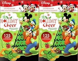 Holiday Christmas Sticker Books - Disney Mickey Mouse 125 Stickers! (Set of 2)  - $14.84