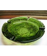 ~Vintage~ Anchor Hocking Soreno HEAVY Green Glass *ASHTRAY*                (E) - $11.83