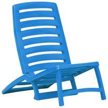 vidaXL 4x Folding Beach Chairs Plastic Beach Seat Outdoor Chair Multi Colors image 10