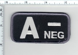 A-NEG (Negative) Blood Type Usa Medic Army Swat Patch W/ Velcro® Brand Fastener - $24.96