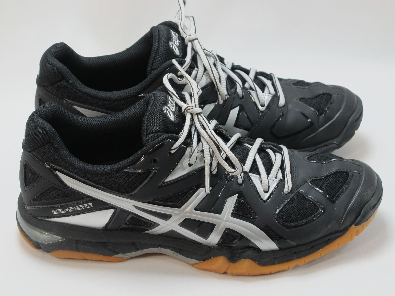 Primary image for ASICS Gel Tactic Volleyball Shoes Women's Size 8.5 US Near Mint Condition Black