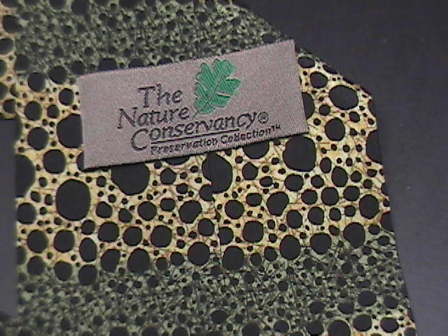 The Nature Conservancy Neck Tie Poison Arrow Frog Karen Bierce Greens Black Gold