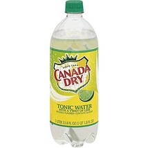 Canada Dry, Tonic water with a twist of lime, 1 liter bottle