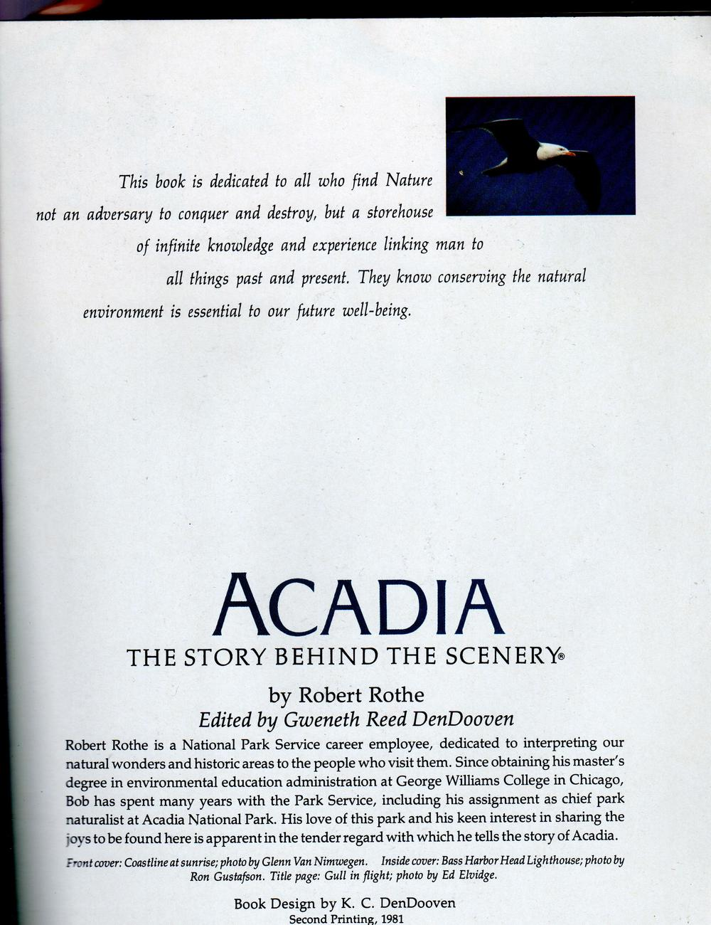 National Park- Acadia The Story Behind The Scenery