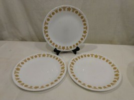 """Vintage Corelle Corning Set of 3 Butterfly Gold 8.5"""" Salad Luncheon Plates  USA - $14.92"""
