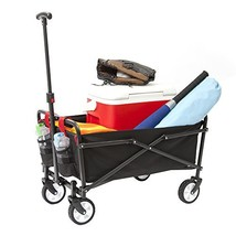 YSC Wagon Garden Folding Utility Shopping Cart,Beach Black - $68.54