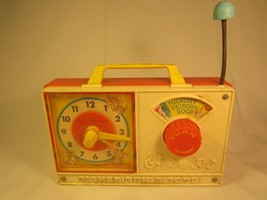 *Working* Vintage FISHER PRICE Musical Clock 1971 HICKORY DICKORY DOCK [... - $14.44