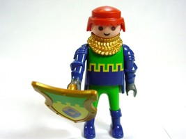 Playmobil 4643 Knight prince Figure Castle Blue Green Yellow shield cake... - $11.63