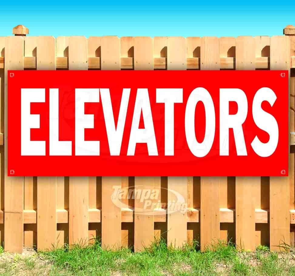 Primary image for ELEVATORS RED2 Advertising Vinyl Banner Flag Sign Many Sizes DIRECTIONAL