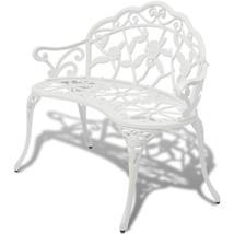 Vintage White Garden Bench Metal Loveseat Two Seater Patio Seat Furnitur... - $139.99