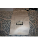 AUTHENTIC GUCCI White Dust Bag Shoes or Handbag Travel Storage 9x17 - $15.83