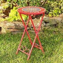 Zaer Ltd. Mosaic Tile Furniture (Small Accent Table, Paris Red) - $89.95