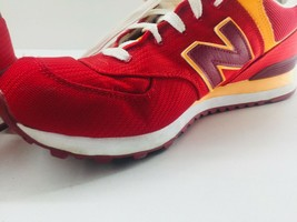 New Balance Athletic Sneaker Shoes Men's Sz 11.5 Red Orange ML574PPR  574 EUC image 2