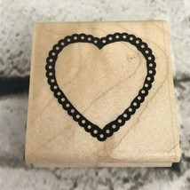 CTMH Close To My Heart Rubber Stamp Groovy Hearts - $5.93