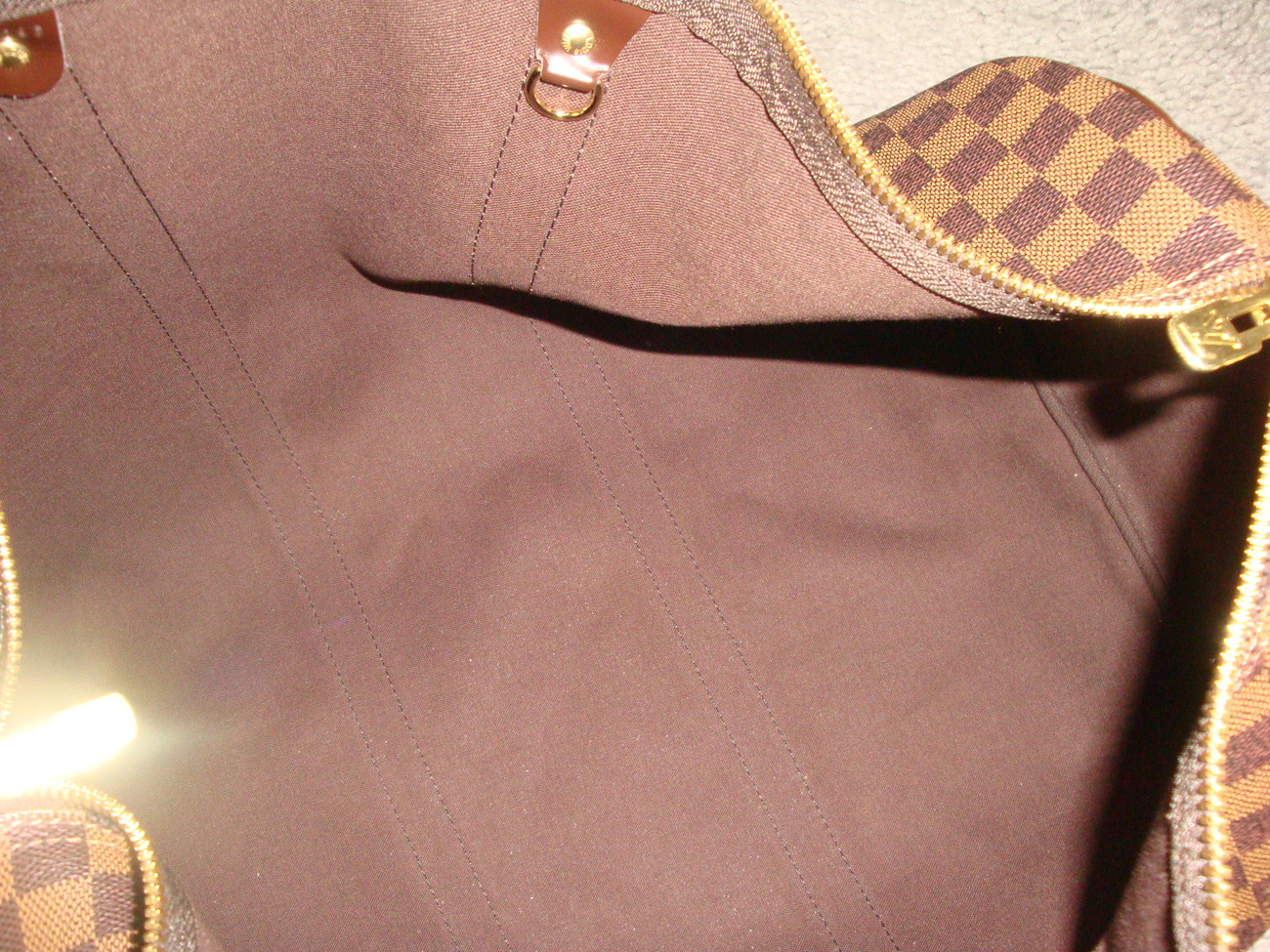 Authentic Louis Vuitton Damier Keepall 50 Luggage Bag