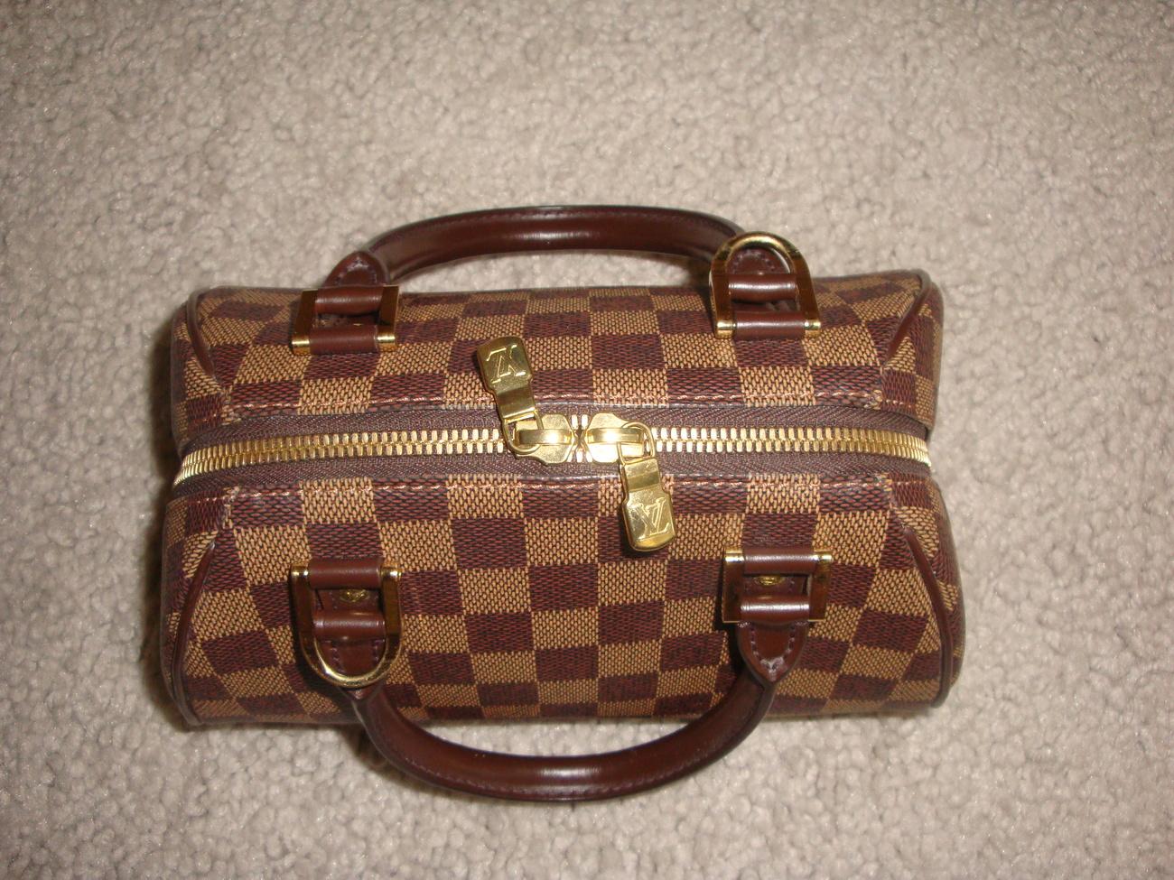 Authentic Louis Vuitton Damier Ribera PM Mini Bag Purse