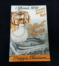 Vintage Official 1950 Detroit Tigers Score Book Washington Senators MLB ... - $38.69