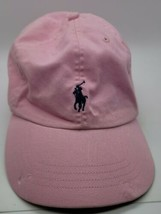 Polo Ralph Lauren Hat Hot Pink And Navy Horse Brim damaged see photos - $13.13