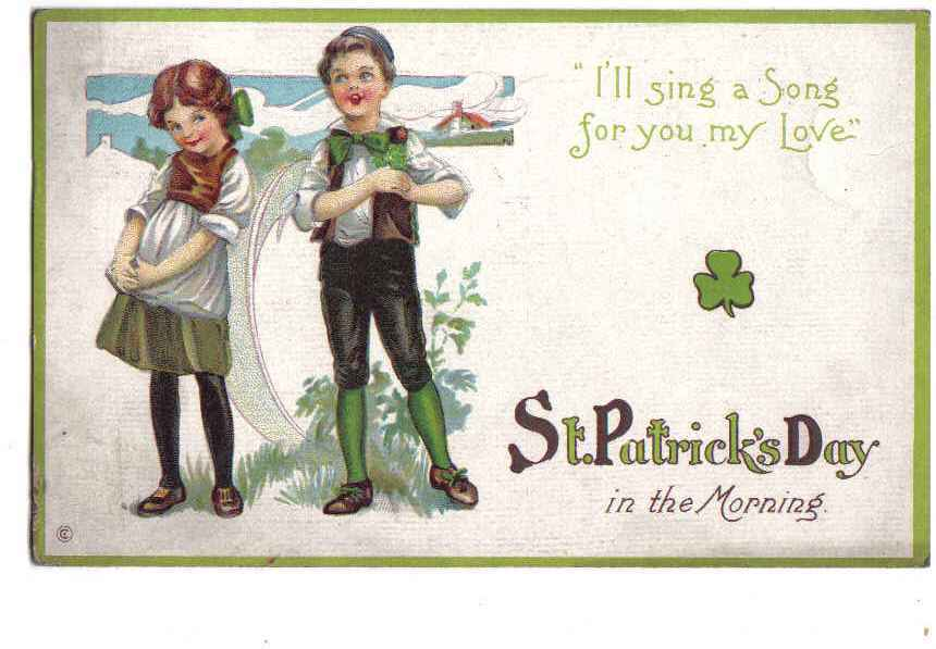 St patrick s day  i ll sing a song for you   front