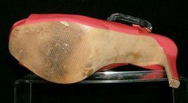 Jessica Simpson 'Barit' coral man made peep toe slingback platform heels 8B image 10