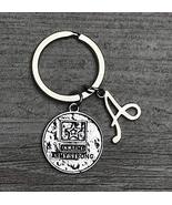 Personalized US Army Keychain with Letter Charm, Custom Military Product... - $9.99