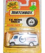 "Matchbox 1991 ""TV News Truck"" Mint Car On Sealed Card MB 68 - £3.63 GBP"