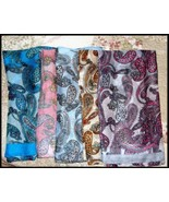 NEW Boho Retro Paisley Double Circle Cowl  Infinity Scarf Assorted Colors  34x34 - $2.00 - $5.00